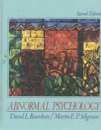 9780393956962: Rosenhan: Abnormal Psychology 2ed (Cloth)