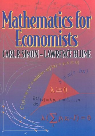 9780393957334: Mathematics for Economists