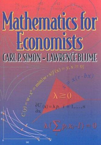 9780393957334: Mathematics for Economists