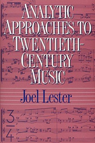 9780393957624: Analytic Approaches to Twentieth-Century Music