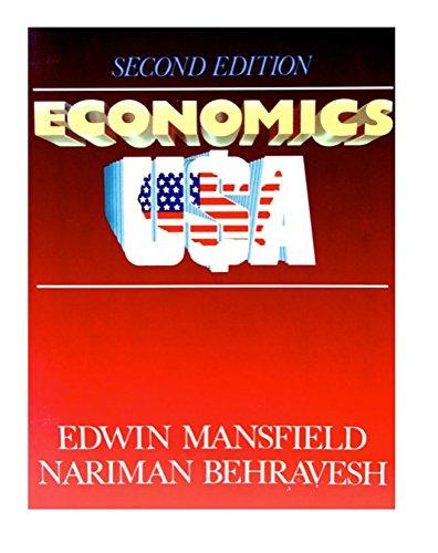 Economics USA: Mansfield, Edwin, Behravesh,