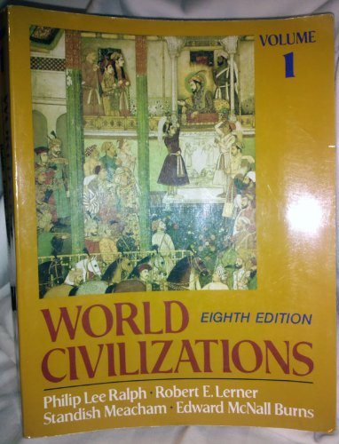 9780393959154: World Civilizations, Their History and Their Culture: Vol 1