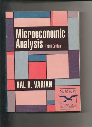 9780393960266: Microeconomic Analysis