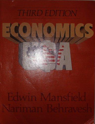 Economics U. S. A.: Edwin Mansfield; Nariman