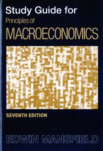 9780393961744: Study Guide: for Principles of Macroeconomics, Seventh Edition