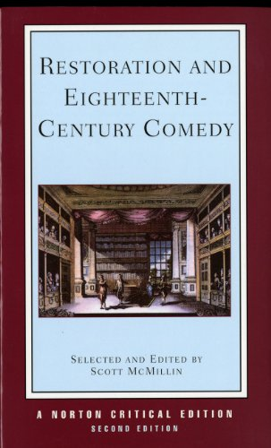 9780393963342: Restoration and Eighteenth-Century Comedy (Norton Critical Editions)