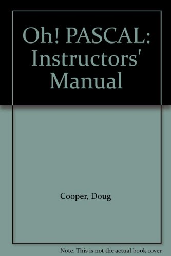 9780393964004: Oh! PASCAL: Instructors' Manual