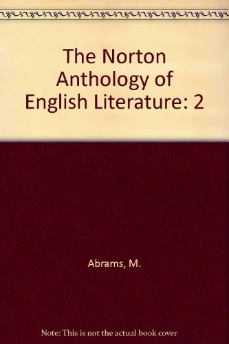 9780393964165: The Norton Anthology of English Literature, Vol. 2