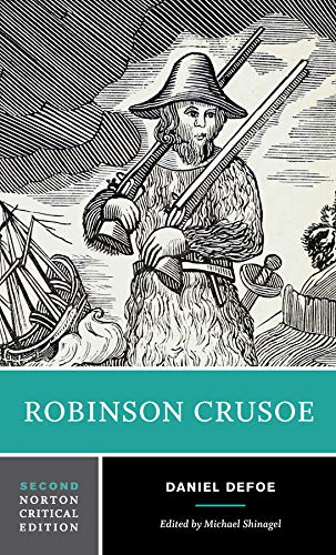 robinson crusoe norton critical editions stock image