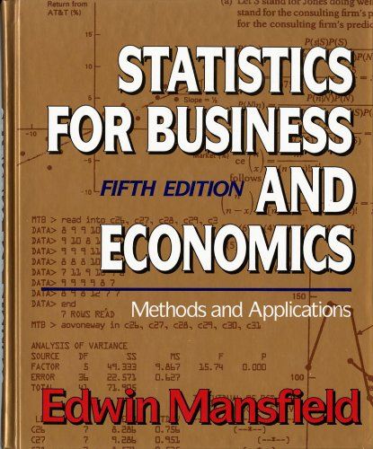 9780393964608: Statistics for Business and Economics: Methods and Applications (Fifth Edition)