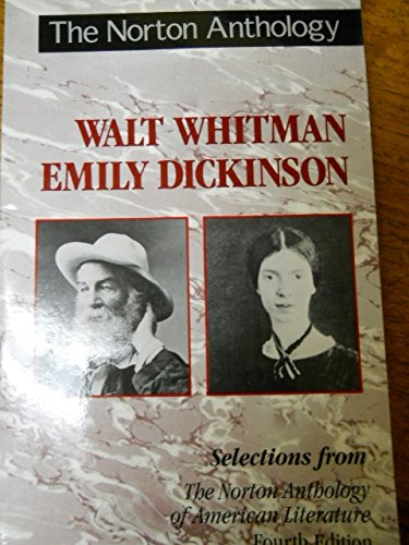 9780393964646: The Norton Anthology of American Literature: Whitman and Dickenson