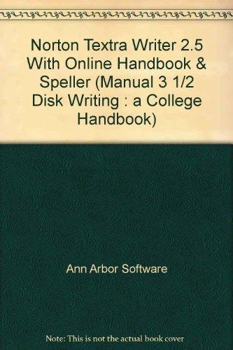 Norton Textra Writer 2.5 With Online Handbook: Software, Ann Arbor