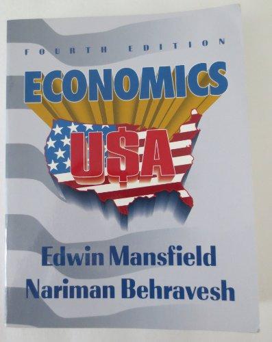 Economics U. S. A.: Nariman Behravesh; Edwin