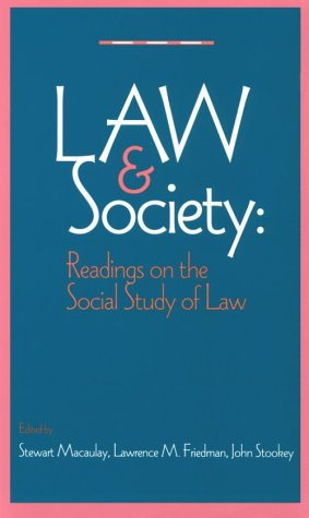 9780393967135: The Law and Society Reader: Readings on the Social Study of Law
