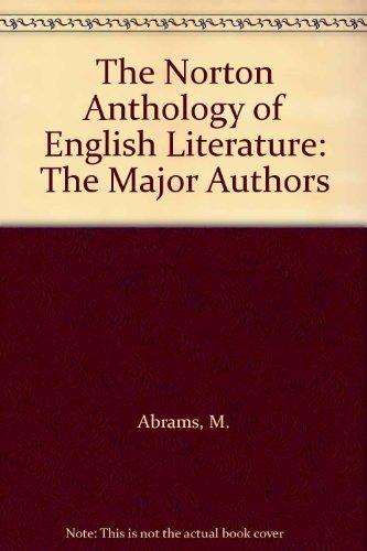 9780393968071: The Norton Anthology of English Literature: The Major Authors