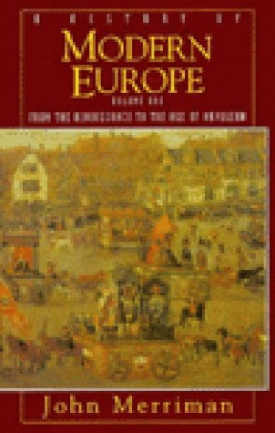 9780393968880: A History of Modern Europe: From Renaissance to the Age of Napoleon v. 1