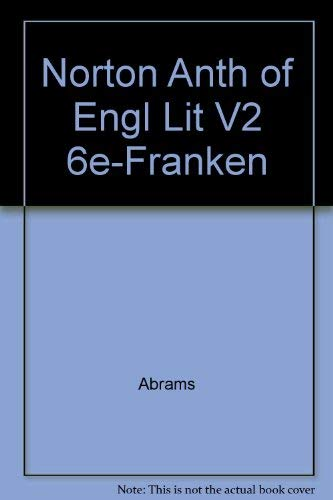 9780393969382: Norton Anth of Engl Lit V2 6e-Franken (Norton Anthology of English Literature (Paperback))