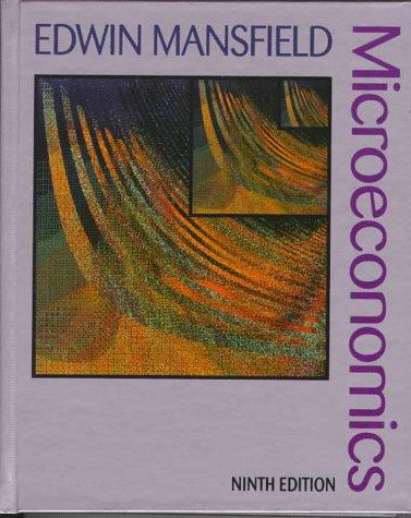 9780393970357: Microeconomics: Theory/Applications