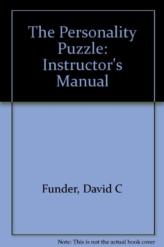9780393970494: The Personality Puzzle: Instructor's Manual