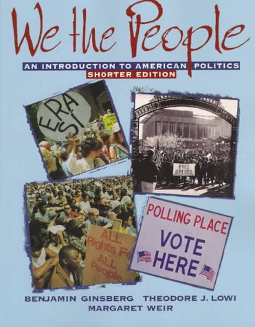 9780393971361 We The People An Introduction To American Politics