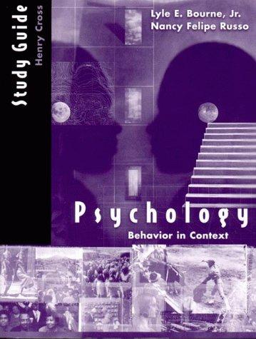 9780393972108: Psychology: Behavior in Context