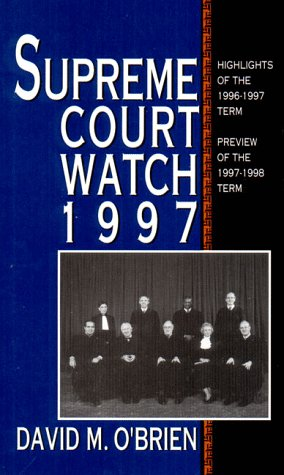 Supreme Court Watch (0393972399) by David O'Brien