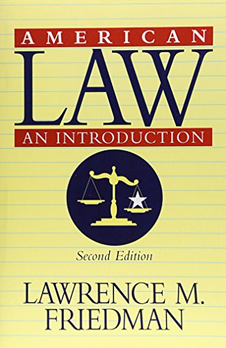 9780393972733: American Law: An Introduction (Revised Second Edition)