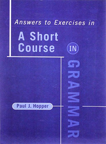 SHORT COURSE IN GRAM-ANS/EXER: HOPPER,PAUL