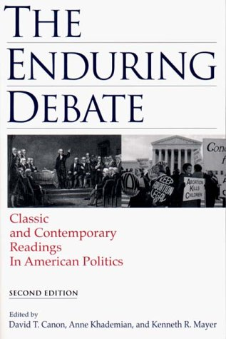 9780393975512: The Enduring Debate: Classic and Contemporary Readings in American Politics
