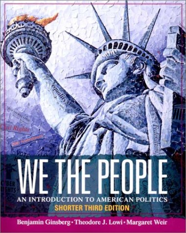 9780393976298: We the People: An Introduction to American Politics
