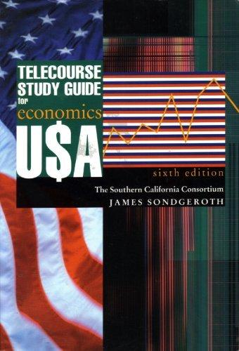 Economics U$A : Telecourse Study Guide: Lucile Mansfield; Nariman