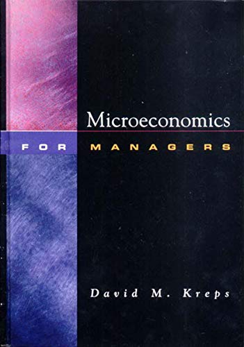 9780393976786: Microeconomics for Managers