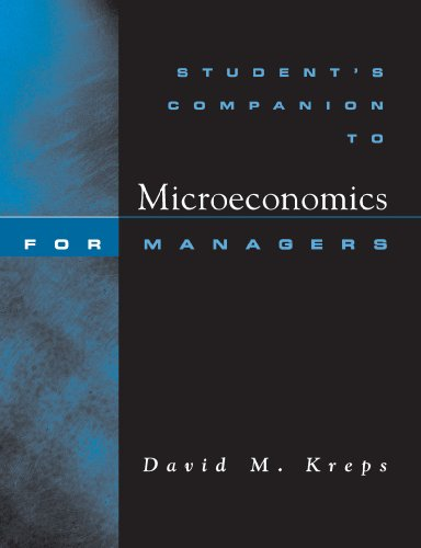 9780393976793: Student's Companion: for Microeconomics for Managers