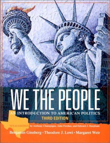 9780393977141: We the People: An Introduction to American Politics