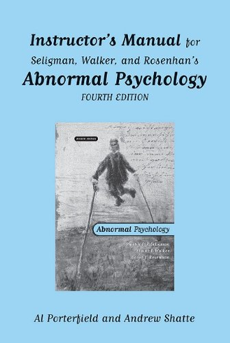 9780393977325: Instructor's Manual: for Abnormal Psychology, Fourth Edition: Instructor's Manual for 4r.e.