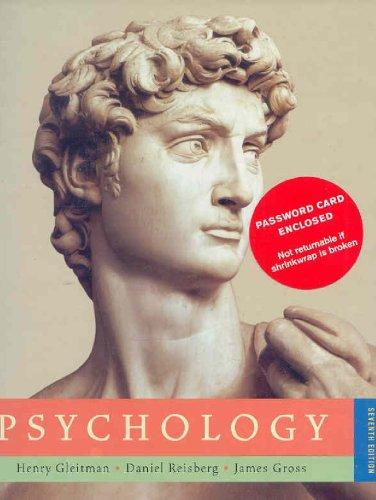 Psychology by james gross, daniel reisberg and henry gleitman.