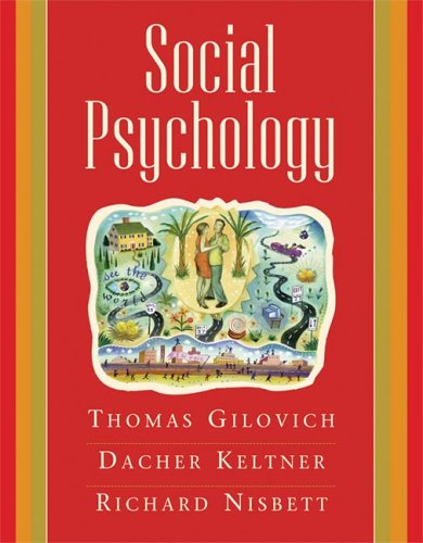 9780393978759: Social Psychology
