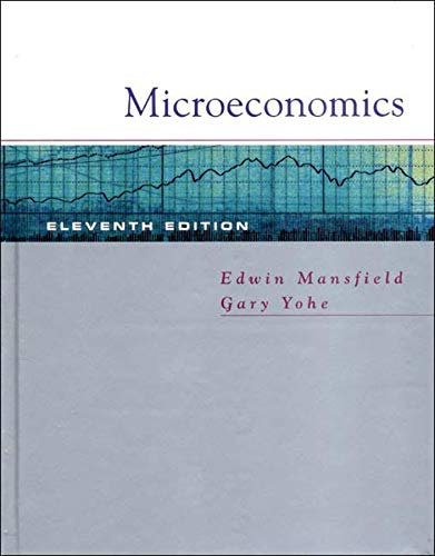 Microeconomics: Theory and Applications, Eleventh Edition: Edwin Mansfield, Gary