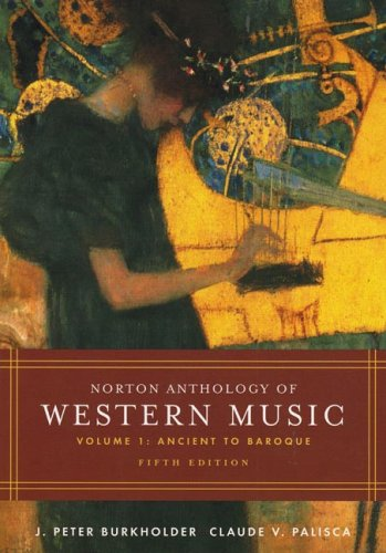 9780393979909: Norton Anthology Of Western Music: Ancient To Baroque: 1
