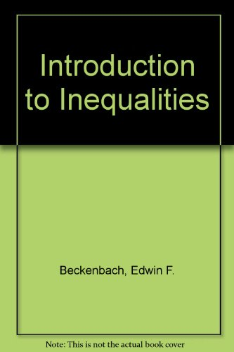 9780394015590: Introduction to Inequalities