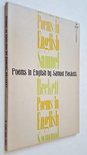 Poems in English (9780394171968) by Beckett, Samuel