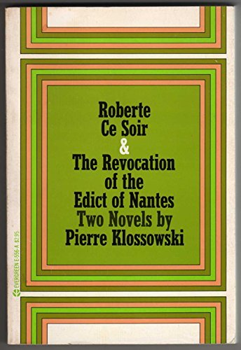 9780394172576: Roberte Ce Soir, and the Revocation of the Edict of Nantes