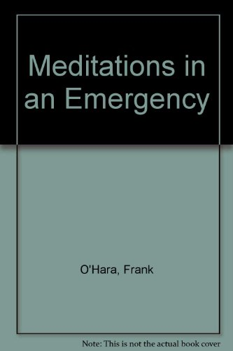 9780394173436: Meditations in an Emergency