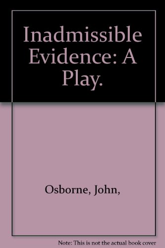 9780394173955: Inadmissible Evidence: A Play.