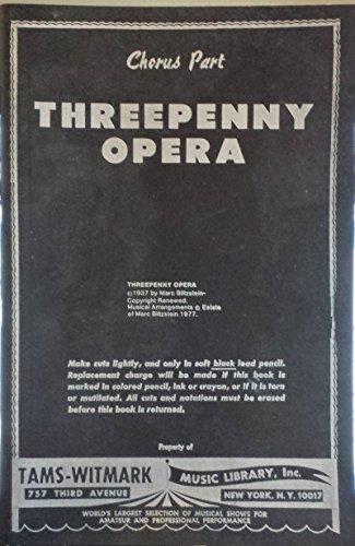9780394174723: The Threepenny Opera