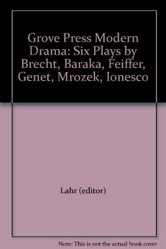 9780394178608: Grove Press Modern Drama: Six Plays