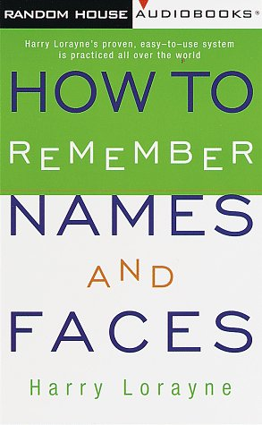 9780394298306: How to Remember Names and Faces
