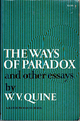 quine essays Books and essays on w v quine, mathematician and philosopher including list of books, articles, essays, published and unpublished items are included includes links to other willard van orman quine internet resources as well as to other family web sites by douglas boynton quine.