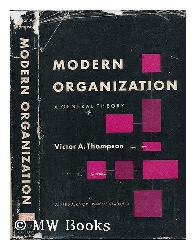 9780394305325: Modern Organization