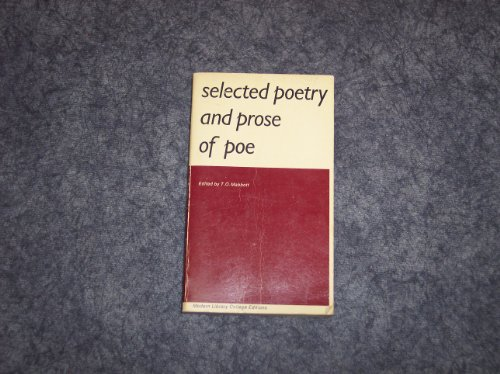 Selected Poetry and Prose of Edgar Allan: Mabbott, T. O.